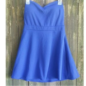 Forever 21 Strapless Peplum Top size M